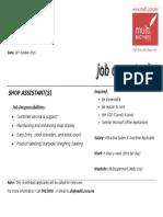 JOB Ad 1610 -Jobmaldives