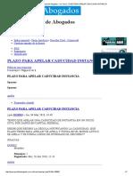 Foros Del Portal de Abogados • Ver Tema - Plazo Para Apelar Caducidad Instancia