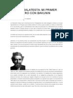 Mi Primer Encuentro Con Bakunin - ERRICO MALATESTA