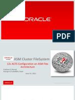 12c ACFS Configuration on ASM Flex Architecture-ppt