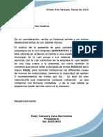 ejemplo de solicitud Carta a Solesco de Centro