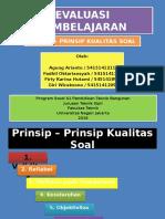 PRINSIP - PRINSIP KUALITAS SOAL