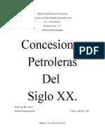 Concesiones Petroleras Del Siglo XX