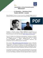 Webdocumentales y otros formatos para Millennials con Bruno Choiniére y Christian Lebel del Estudio Akufen #PerDebate16
