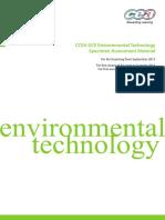 CCEA GCE Environmental Technology Specimen Assessment Material for First Teaching From September 2013