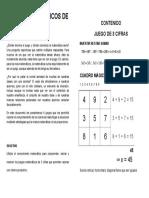 Juegos Matemáticos de 3 Cifras Omar