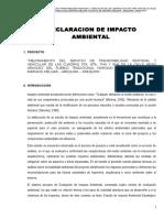 Estudio de Impacto Ambiental Arias Araguez
