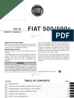 2016-500 Fiat Owner