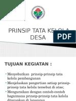 Prinsip Tata Kelola Desa