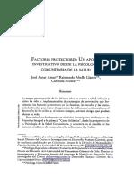 Factores Protectores Un Aporte Investigativo Desde La Psicología Comunitaria
