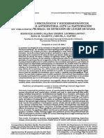 Predictores Psicológicos y Sociodemográficos