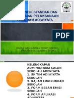 Presentasi Komponen, Standar Dan Pencapaian Adiwiyata Bjb Penilai