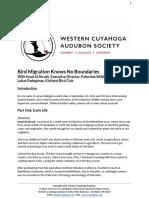 Bird Migration Knows No Boundaries with Imad Al Atrash, Executive Director, Palestine Wildlife Society and Lukas Padegimas, Kirtland Bird Club