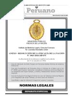 """Anexos de la Resolución Nº 3963-2016- MP- FN, Guías elaboradas en mérito a lo dispuesto por la Ley Nº 30364, """"Ley para prevenir, sancionar y erradicar la violencia contra las mujeres y los integrantes del grupo familiar"""""""