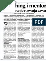 Sidor-Rządkowska. - Coaching i Mentoring - Wspieranie Rozwoju Zawodowego. - DYREKTOR SZKOŁY. - 2014, Nr 11, s. 22-24