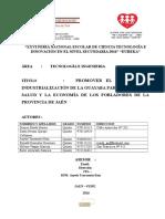 Proecto Industrializacion Guayaba 2016