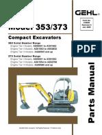GEHL 353 373 Compact Excavator Parts