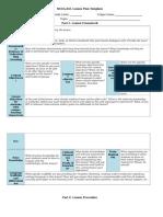mcea esl lesson plan template