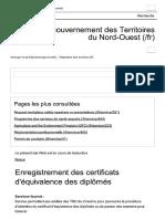 Enregistrement des certificats d'équiva...ernement des Territoires du Nord-Ouest.pdf