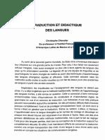 Traduction Et Dأ©dactique