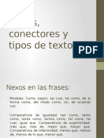 Nexos, Conectores y Tipos de Texto