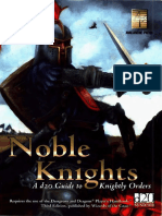 Avalanche Press - Noble Knights - A d20 Guide to Knightly Orders