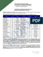 Boletín Hidrológico Condición Pre-Alerta No.1 26-10-2016