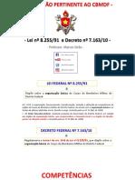 Lei 8.255 e Decreto 7.163 Organização CBMDF Esquematizada Parte I