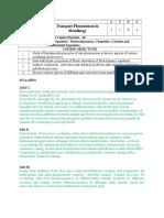 TransportatPhenomenonCourse Information Sheet