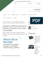 VPN Claro Movistar Bitel Entel