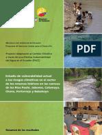 Estudio de Vulneravilidad en Cuenas Del Ecuador