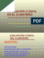 Evaluación Clínica en El Climaterio