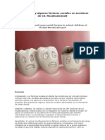 Caries Dental y Algunos Factores Sociales