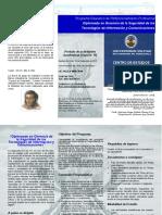 TRIPTICO Diplomado en Gerencia de La Seguridad de Las Tecnologias de Inf. y Com. 2015