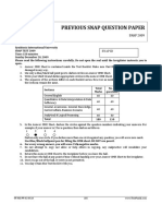 SNAP 2009 Question Paper With Answer Key