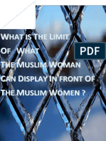 What is the limitof what muslim women can display infront of a muslim women