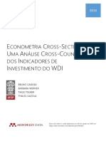 Econometria Cross-section - Análise Cross-country