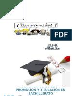 Orden de Evaluación Promoción y Titulación en Bachillerato
