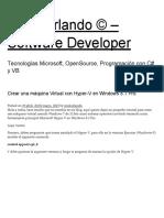 Crear Una Máquina Virtual Con Hyper-V en Windows 8