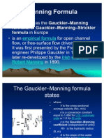 Manning Formula
