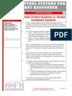 Smoke Control vs Smoke Ventilation