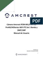 Manual de Usuario Para Cámara Amcrest IP2M-841B_IPM-721 - Español
