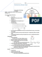 biochemistry review sheet