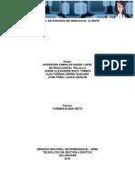 Manual de Proceso Servicio Al Cliente