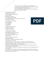 Accounting and Terminology