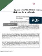 Ifigenia Cruel de Alfonso Reyes. El Círculo de La Violencia