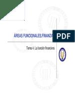 Tema 4. La Función Financiera