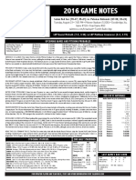 2016 Salem Red Sox Game Notes