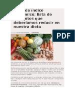 Diabetes-Alimentacion-tablas de Índice Glucémico