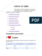 Los Pronombres en Inglés